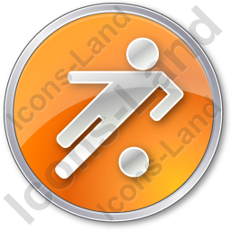 Soccer Circle Orange Icon