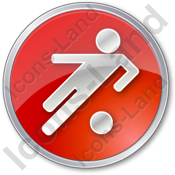 Soccer Circle Red Icon