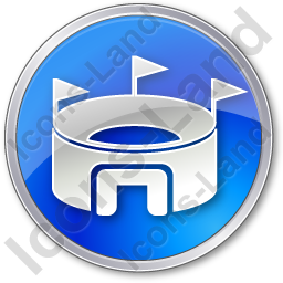 Stadium Circle Blue Icon