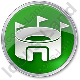 Stadium Circle Green Icon