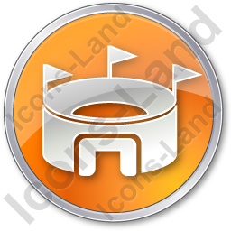 Stadium Circle Orange Icon