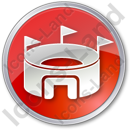 Stadium Circle Red Icon
