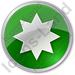Star Circle Green Icon