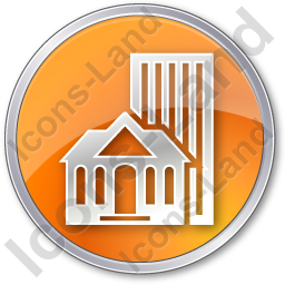 Town Circle Orange Icon, PNG/ICO, 256x256