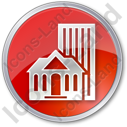 Town Circle Red Icon, PNG/ICO, 256x256