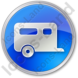 Trailer Circle Blue Icon