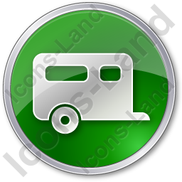 Trailer Circle Green Icon, PNG/ICO, 256x256