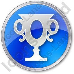 Trophy Circle Blue Icon, PNG/ICO, 256x256