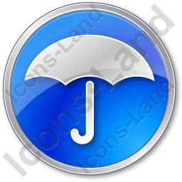 Umbrella Circle Blue Icon, PNG/ICO, 256x256