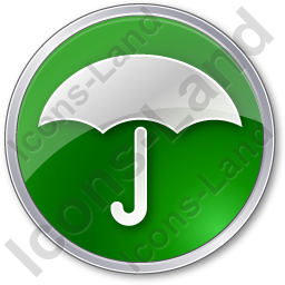 Umbrella Circle Green Icon