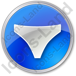 Underwear Circle Blue Icon, PNG/ICO, 256x256
