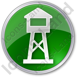 Watchtower Circle Green Icon