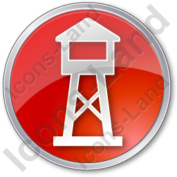 Watchtower Circle Red Icon