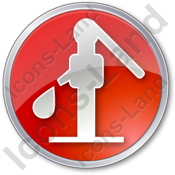 Water Pump Circle Red Icon