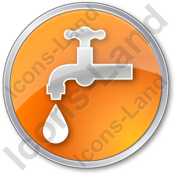 Water Tap Circle Orange Icon, PNG/ICO, 256x256