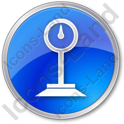Weight Circle Blue Icon
