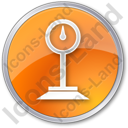 Weight Circle Orange Icon