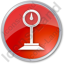 Weight Circle Red Icon, PNG/ICO, 256x256