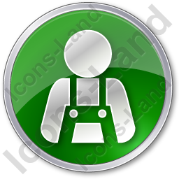 Worker Circle Green Icon, PNG/ICO, 256x256