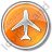 Airport Circle Orange Icon, PNG/ICO, 48x48