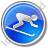 AlpineSkiing Circle Blue Icon, PNG/ICO, 48x48
