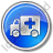Ambulance Circle Blue Icon, PNG/ICO, 48x48