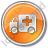 Ambulance Circle Orange Icon