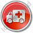 Ambulance Circle Red Icon, PNG/ICO, 48x48