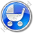 Baby Carriage Circle Blue Icon