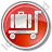 Baggage Cart Circle Red Icon, PNG/ICO, 48x48