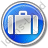 Baggage Circle Blue Icon, PNG/ICO, 48x48