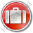 Baggage Circle Red Icon, PNG/ICO, 48x48