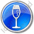 Bar Champagne Circle Blue Icon, PNG/ICO, 48x48