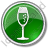 Bar Champagne Circle Green Icon