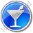 Bar Martini Circle Blue Icon