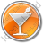 Bar Martini Circle Orange Icon