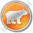 Bear Circle Orange Icon