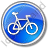 Bicycle Circle Blue Icon