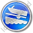 Boat Ramp Circle Blue Icon