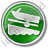 Boat Ramp Circle Green Icon