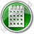 Calendar Circle Green Icon, PNG/ICO, 48x48