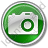 Camera Circle Green Icon, PNG/ICO, 48x48