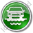 Car Ferry Circle Green Icon, PNG/ICO, 48x48