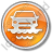 Car Ferry Circle Orange Icon, PNG/ICO, 48x48