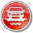Car Ferry Circle Red Icon, PNG/ICO, 48x48