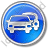 Car Rental Service Circle Blue Icon, PNG/ICO, 48x48