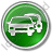 Car Rental Service Circle Green Icon, PNG/ICO, 48x48
