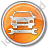 Car Repair Circle Orange Icon, PNG/ICO, 48x48