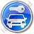 Car Safety Circle Blue Icon, PNG/ICO, 48x48
