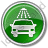 Car Wash Circle Green Icon, PNG/ICO, 48x48